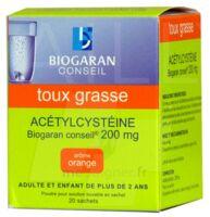 Acetylcysteine Biogaran Conseil 200 Mg Pdr Sol Buv En Sachet B/20 à Courbevoie