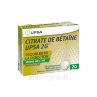 Citrate De Bétaïne Upsa 2 G Comprimés Effervescents Sans Sucre Menthe édulcoré à La Saccharine Sodique T/20 à Courbevoie