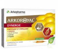 Arkoroyal Dynergie Ginseng Gelée Royale Propolis Solution Buvable 20 Ampoules/10ml à Courbevoie