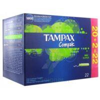 TAMPAX COMPAK, super, bt 22 à Courbevoie