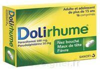 DOLIRHUME PARACETAMOL ET PSEUDOEPHEDRINE 500 mg/30 mg, comprimé à Courbevoie