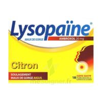 LYSOPAÏNE MAUX DE GORGE AMBROXOL CITRON 20 mg SANS SUCRE, pastille édulcorée au sorbitol et au sucralose à Courbevoie