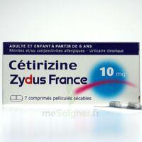 CETIRIZINE ZYDUS FRANCE 10 mg, comprimé pelliculé sécable à Courbevoie