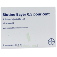 BIOTINE BAYER 0,5 POUR CENT, solution injectable I.M. à Courbevoie