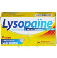 LYSOPAÏNE MAUX DE GORGE CETYLPYRIDINIUM LYSOZYME FRAISE SANS SUCRE, comprimé à sucer édulcoré au sorbitol et à la saccharine à Courbevoie
