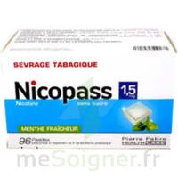 Nicopass 1,5 Mg Pastille Sans Sucre Menthe Fraîcheur Plq/96 à Courbevoie