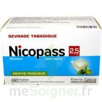 Nicopass 2,5 Mg Pastille Menthe Fraîcheur Sans Sucre Plq/96 à Courbevoie