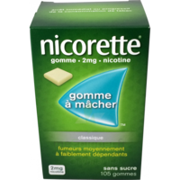 NICORETTE 2 mg Gom à mâcher médic sans sucre menthe fraîche Plq/105gom à Courbevoie