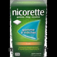 Nicorette 2 mg Gomme à mâcher médicamenteuse sans sucre fruits Plq/30 à Courbevoie