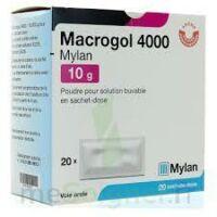 MACROGOL 4000 MYLAN 10 g, poudre pour solution buvable en sachet-dose à Courbevoie