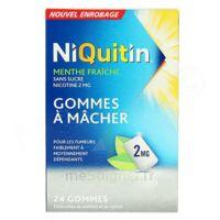 Niquitin Menthe Fraiche 2 Mg à Courbevoie