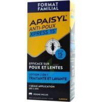 Apaisyl Anti-poux Xpress 15' Lotion Antipoux Et Lente 200ml+peigne à Courbevoie